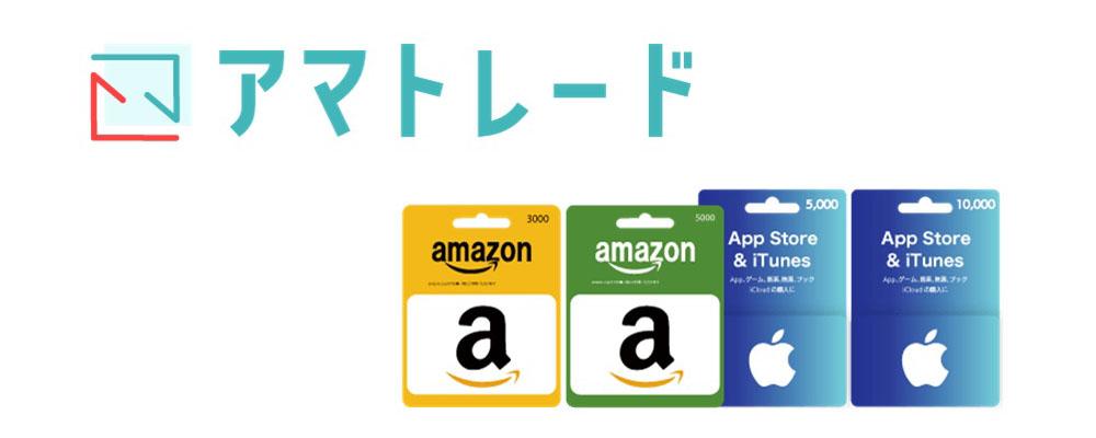 アマトレードのロゴとAmazonギフト券