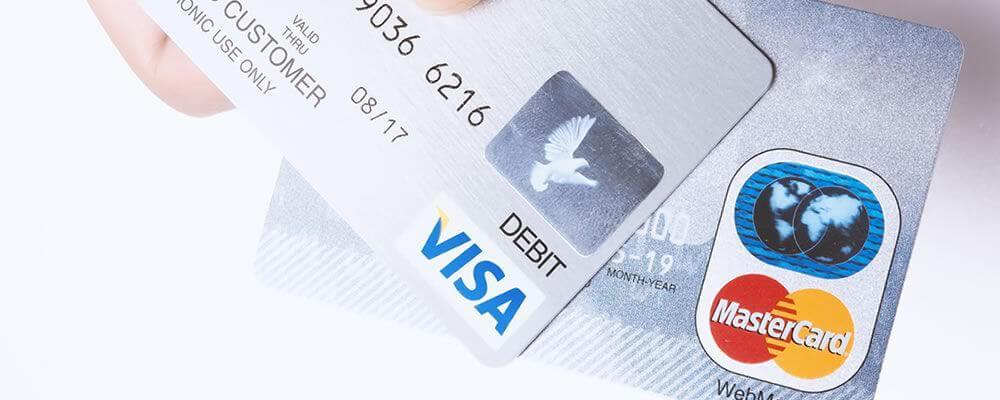 2枚のクレジットカード
